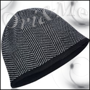 Grey Knitted Hat For Men