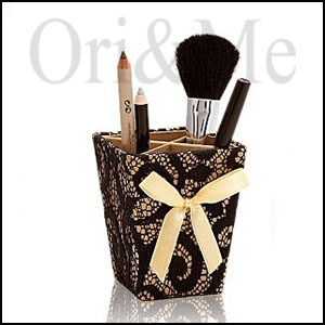 Golden Luxe Cosmetic Brush Holder
