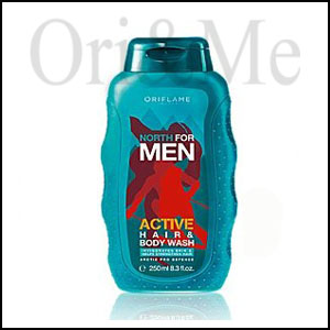 North For Men Active Hair & Body Wash