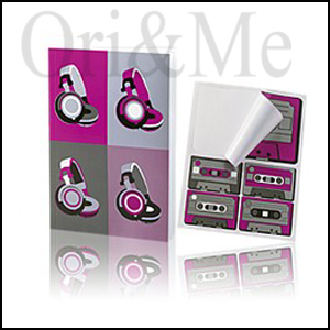 Stereo Notebook with Stickers