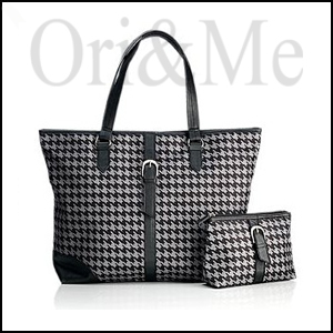 Dogtooth Tote Bag and Pouch