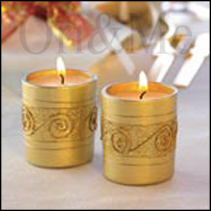 Gold and Glow Glass Candles