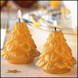 Gold and Glow Candles Tree shape