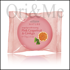 Soap Bar with toning Pink Grapefruit & Ginkgo