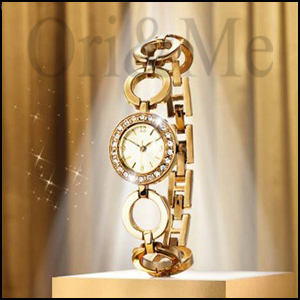 Golden Crystal Watch