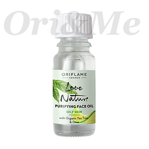 LOVE NATURE Purifying Face Oil with Organic Tea Tree & Lime
