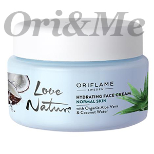 LOVE NATURE Hydrating Face Cream with Organic Aloe Vera & Coconut Water